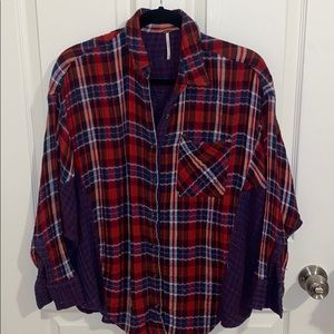 FREE PEOPLE PLAID BUTTONDOWN
